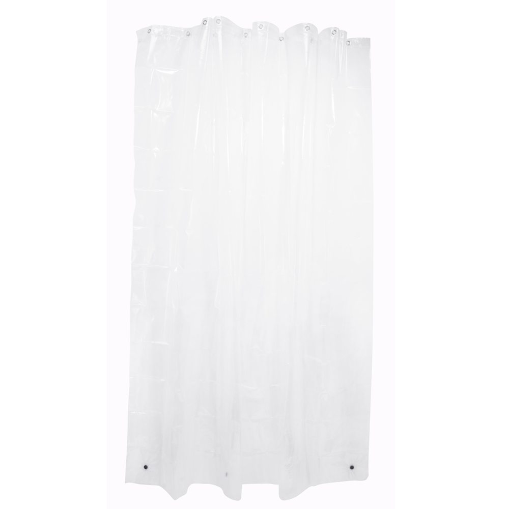 Superb Enigma Mildew Free Shower Curtain Liner With Magnets, Clear