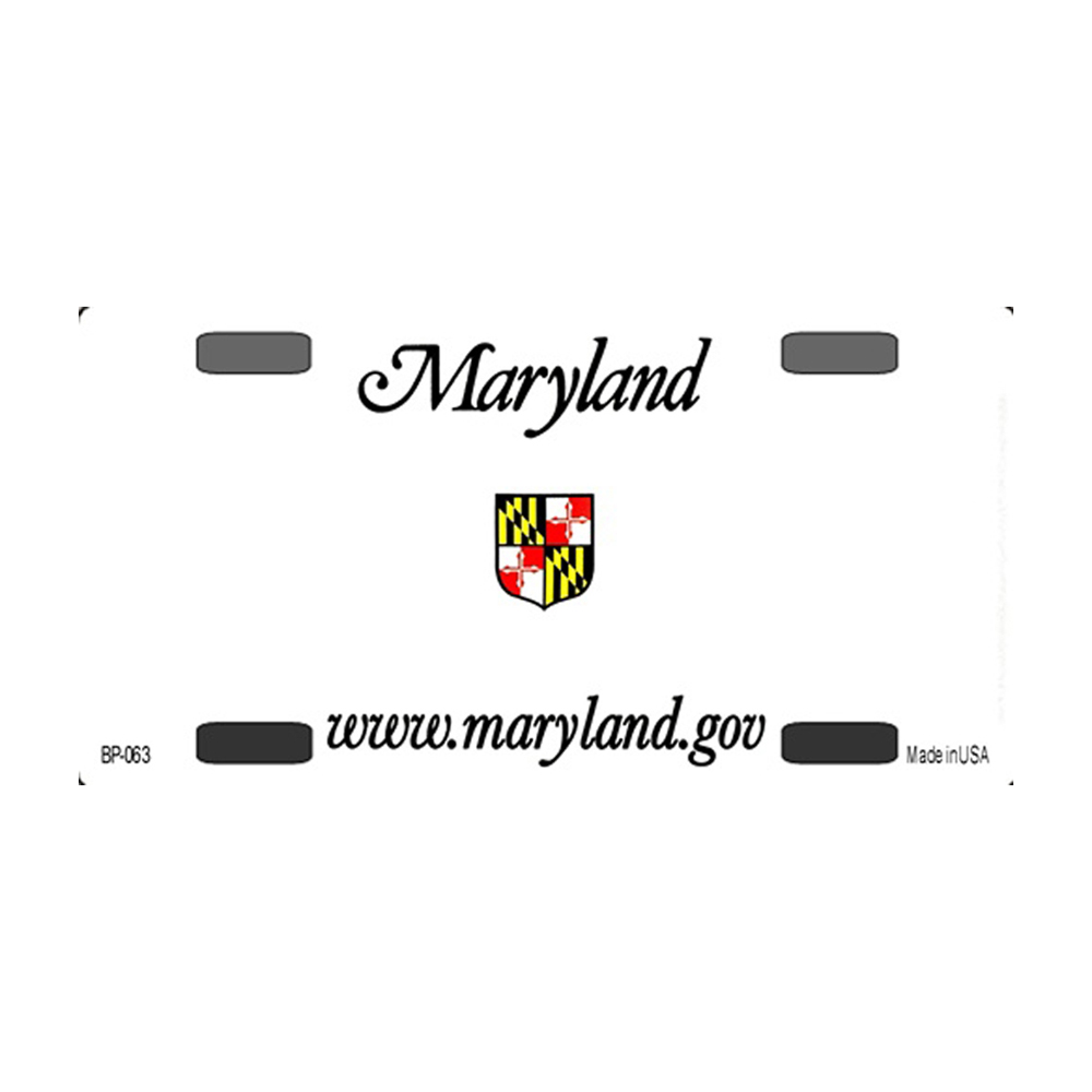 Smart Blonde Maryland Novelty State Background Customizable Bicycle License Plate Tag Sign