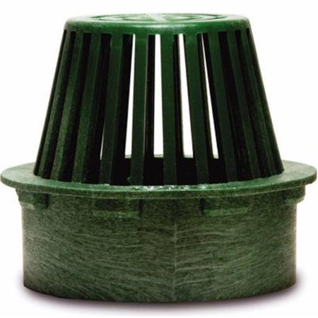 75 4 in. Flat Top Structural Foam Polyolefin Atrium Grate, Green ()