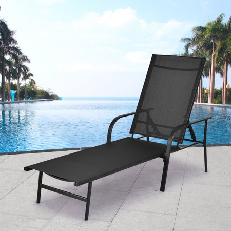 Costway Pool Chaise Lounge Chair Recliner Patio Furniture
