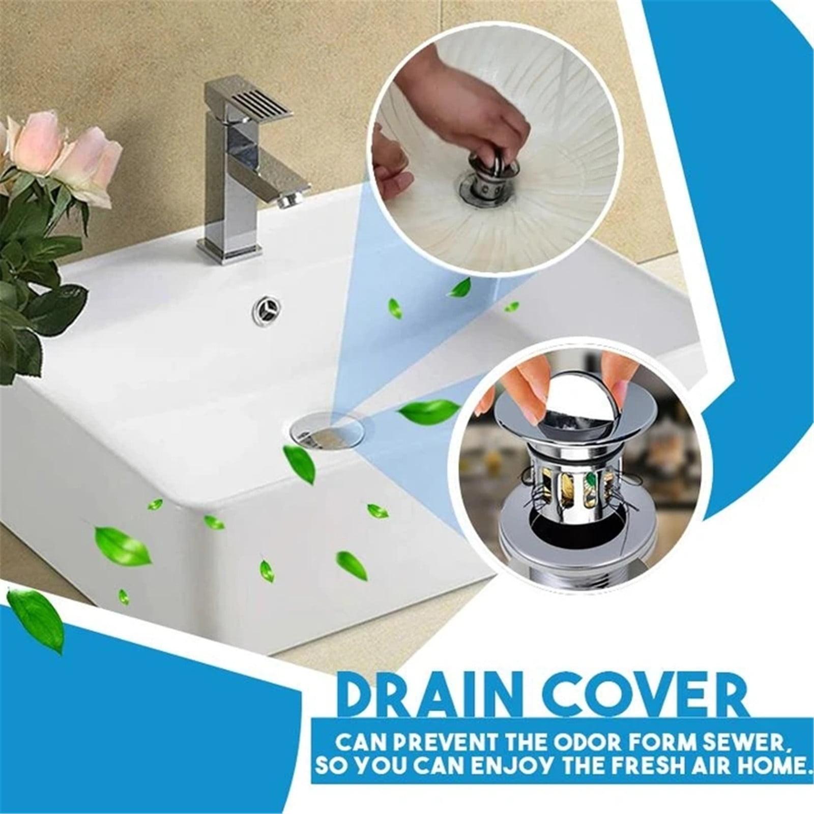 1xUniversal Wash Basin Bounce Drainer Filter Anti-Clogging Bathroom Sink Drainer