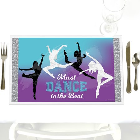 Must Dance to the Beat - Dance - Party Table Decorations - Birthday Party or Dance Party Placemats - Set of 12 (Party City Beads)