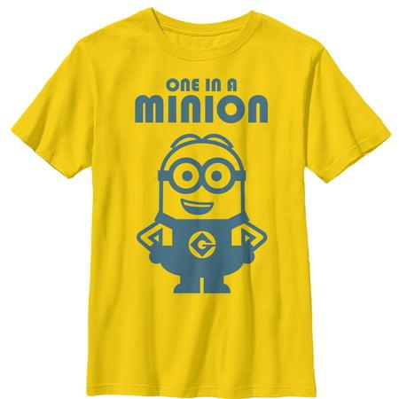Despicable Me Boys' One in Minion Smile T-Shirt](Bob Despicable Me)