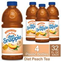 (4 Pack) Diet Snapple Peach Tea, 32 Fl Oz Bottle, 1 Count