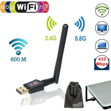 Eeekit Usb Wifi Lan Adapter 600Mbps Dual Band 5Ghz 2 4Ghz 802 11Ac W  Antenna Wireless Network Dongle Booster Card For Pc Laptop