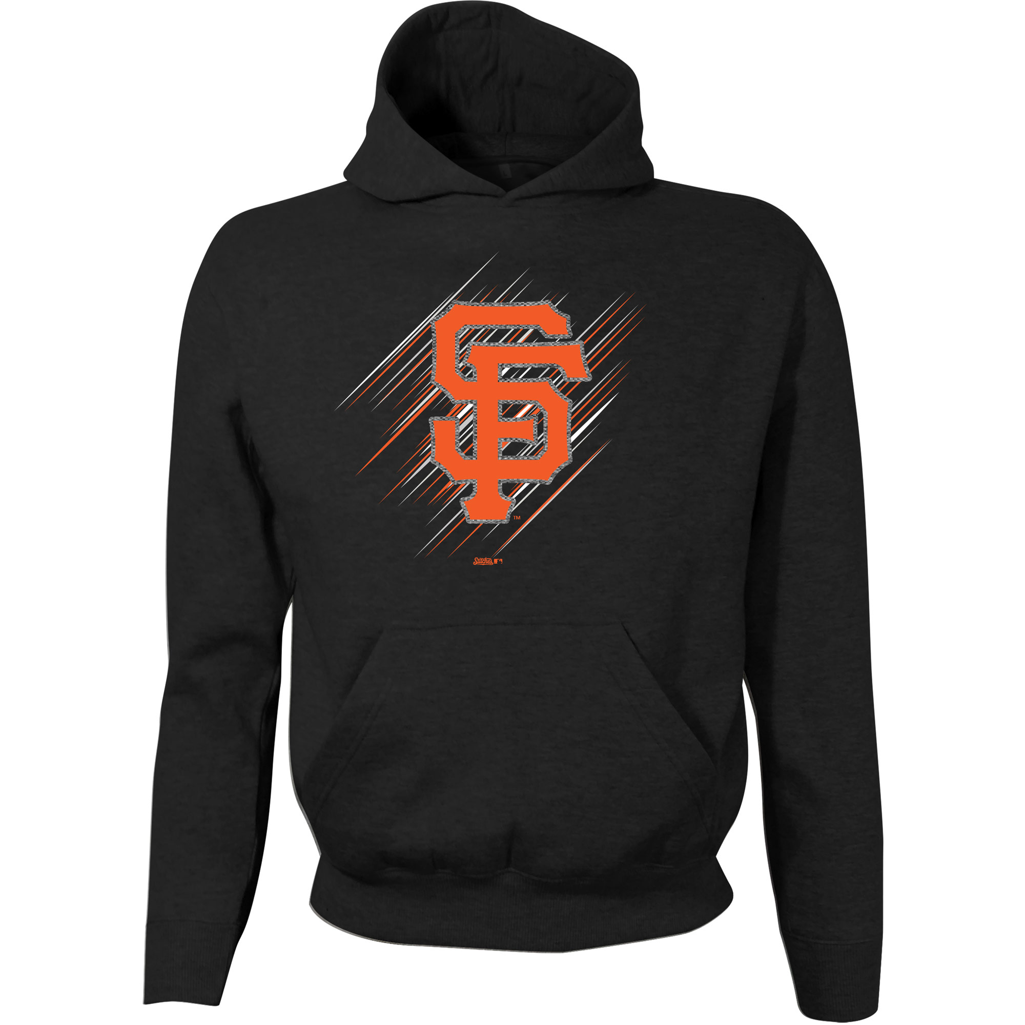 San Francisco Giants Stitches Youth Pullover Hoodie - Black