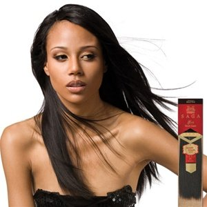 MilkyWay Saga Gold Remy 100% Human Hair Weave - Remy Yaky 10 1B Off Black - image 1 of 1