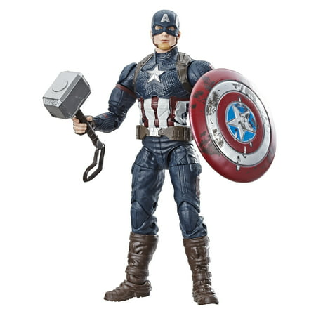 Marvel Legends Series 6-Inch Worthy Captain America with Mjolnir, Ages 4 and Up