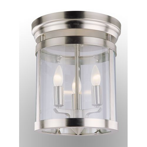 "DVI Lighting DVP4432 3 Light 11"" Wide Flush Mount from the Niagara Collection"