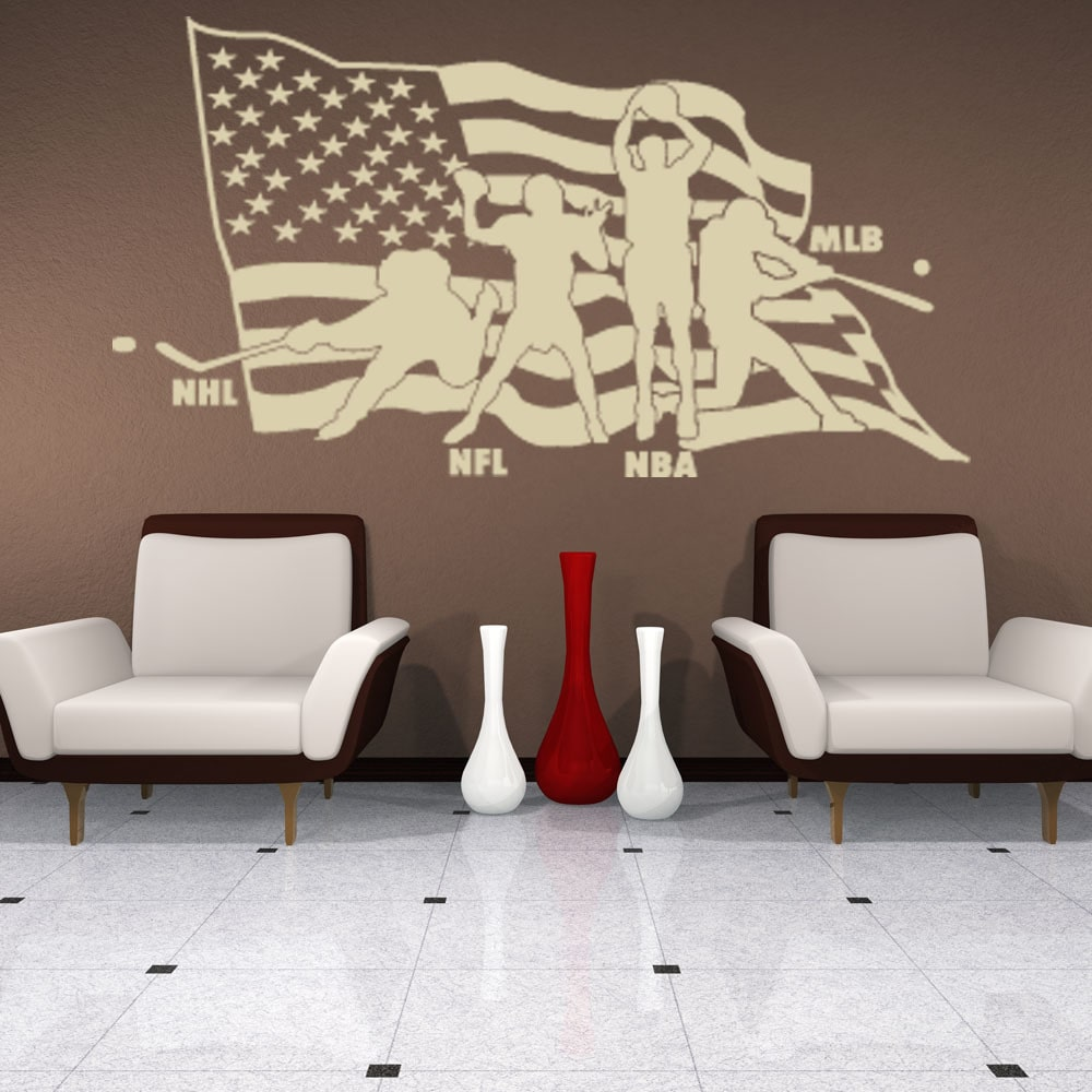 Style and Apply American Sports Sport Wall Decal