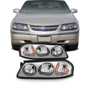 Fit 2000 2001 2002 2003 2004 2005 Chevy Impala Replacement Headlights L+R