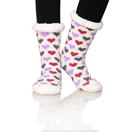 f17903c69a1e SkyRock - Super Soft Fleece Fuzzy Winter Slipper Socks For Women ...