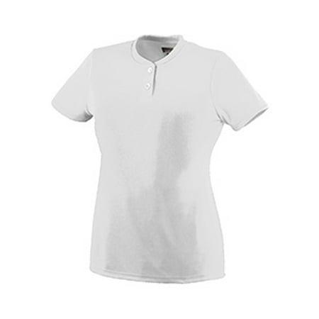 Augusta Sportswear WOMEN'S WICKING TWO-BUTTON SOFTBALL JERSEY 1212