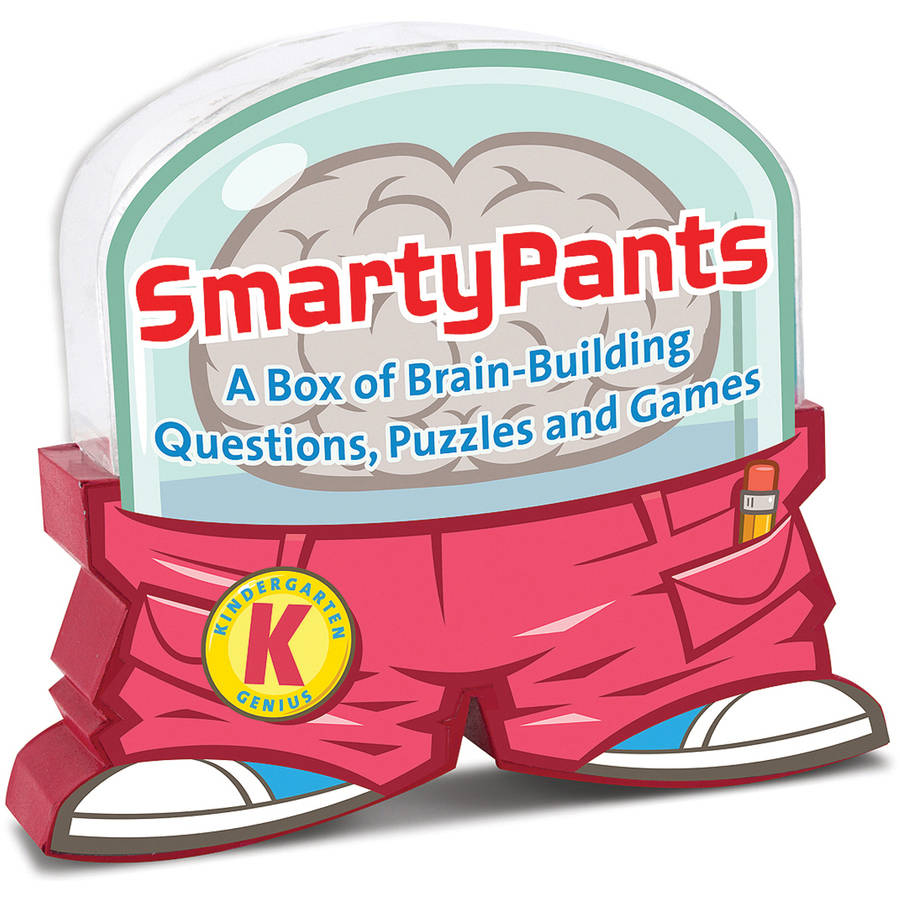Melissa & Doug Smarty Pants Kindergarten Card Set - 120 Educational, Brain-Building Questions, Puzzles, and Games