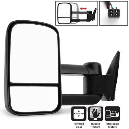 Fits 1988-1998 Chevy GMC C/K 1500 2500 3500 Power Towing Driver Left Side Mirror ()