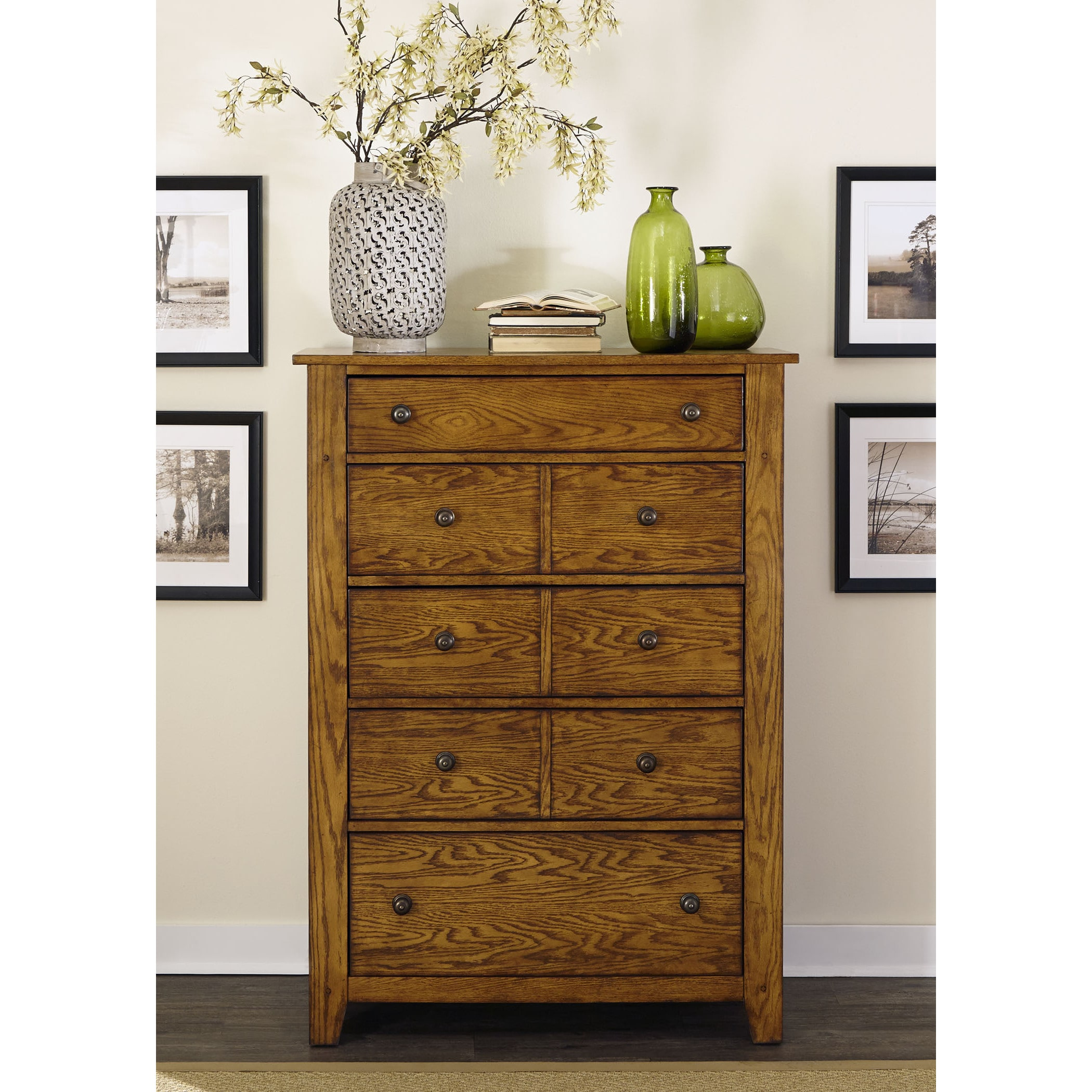 Liberty Grandpas Cabin Aged Oak 5-Drawer Chest