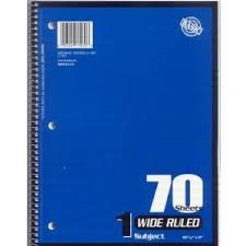 1-subject Notebook Wide Ruled 5-pack