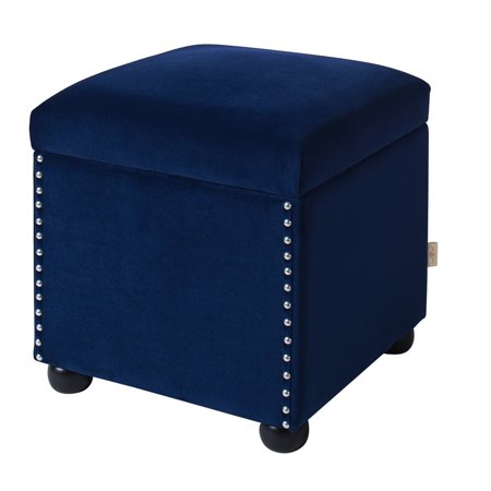 brika home storage cube ottoman in navy blue. Black Bedroom Furniture Sets. Home Design Ideas