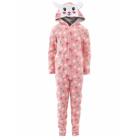 Bunny Pajamas For Women (dELiA*s Girls Bunny Coral Hooded One-Piece)