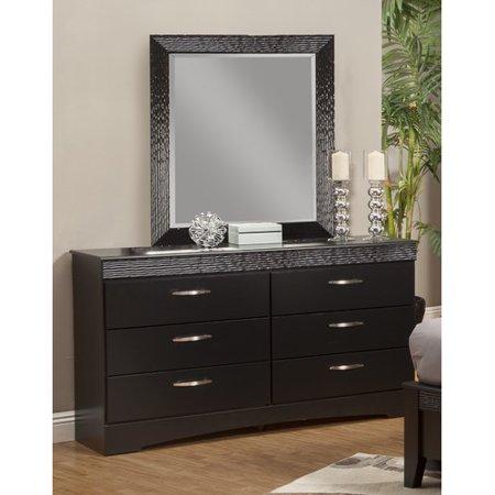 Sandberg Furniture Jolie 6 Drawer Dresser With Mirror