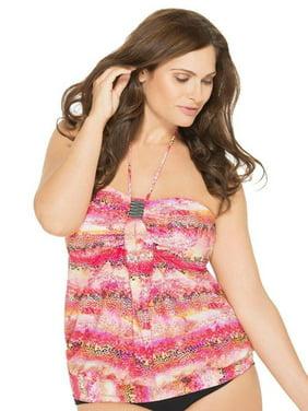 Instant Atraction Tankini Baudeau Blouson Swimsuit Top Size: 3X (22W-24W)