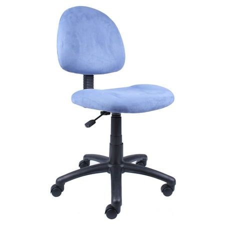 Microfiber Deluxe Posture Chair Blue - Boss Office Products