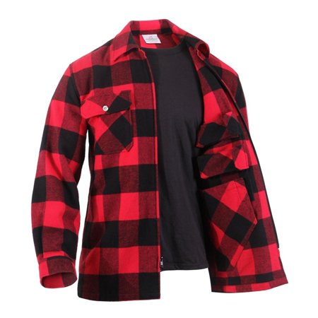 Large Plaid Shirt (Rothco Concealed Carry Flannel Shirt - Red Plaid,)