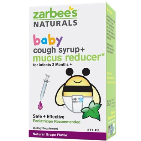 Zarbee S Baby Cough Syrup Mucus Reducer Grape 2 Oz