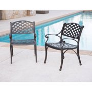 Walker Edison Antique Brown Cast Aluminum Patio Chairs Set of 2 by Walker Edison Furniture Company, LLC