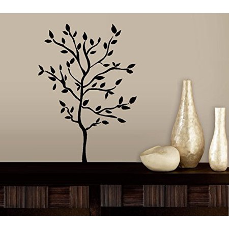 Tree (with branches and leaves) ~ Wall or Window Decal (Small 22