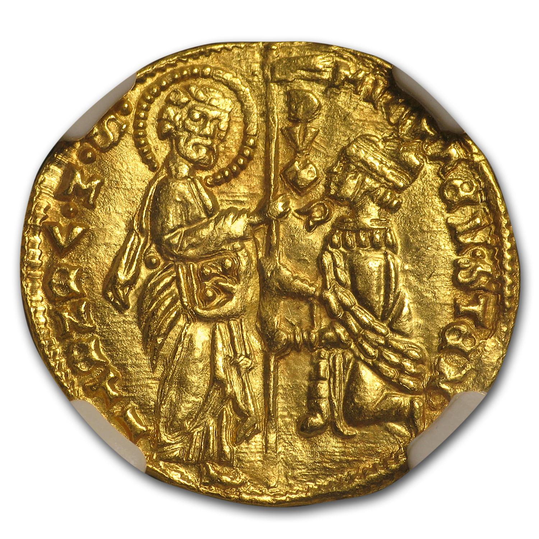 1400-1413 Venice Gold Zecchino Ducat Michele Steno MS-63 NGC