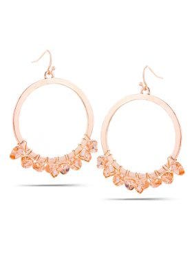 c18222b97 Free shipping. Free pickup. Product Image WOMEN'S ROSE GOLD CRYSTAL ROUND DROP  EARRINGS