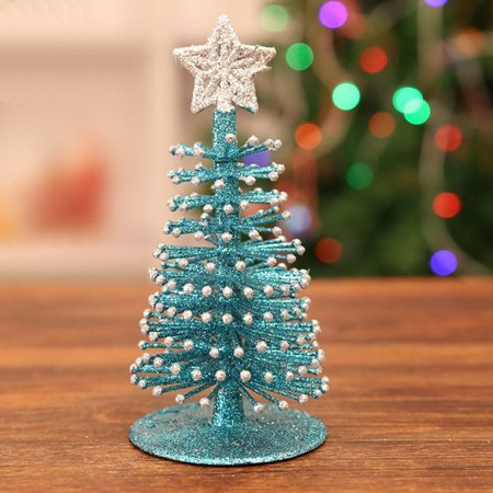 Artificial Tabletop Mini Christmas Tree Decorations Festival Miniature Xmas Tree - Walmart.com