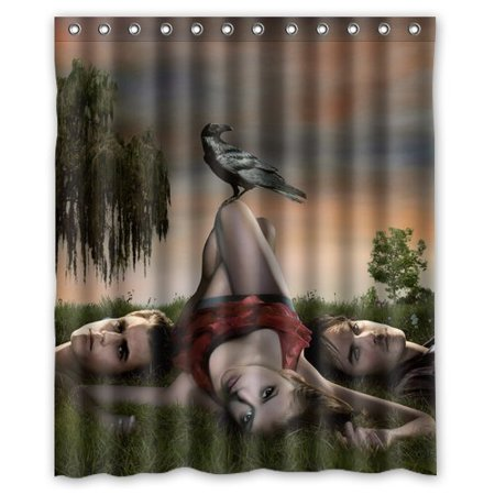 Deyou Nina Dobrev The Diaries Shower Curtain Polyester Fabric Bathroom Shower Curtain Size 66X72 Inches