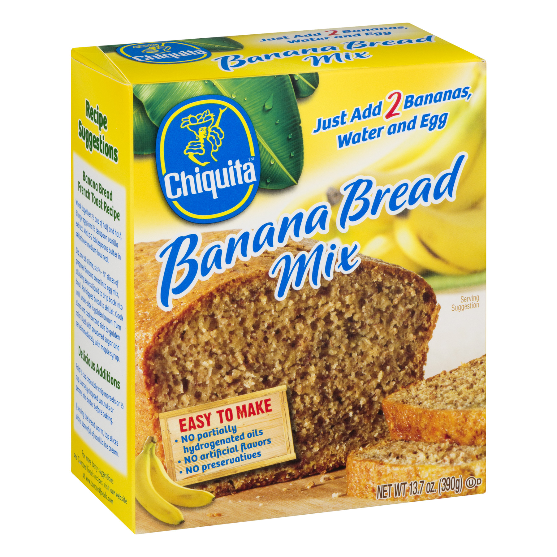chiquita banana bread mix 13 7 oz walmart com