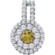 Gold and Diamonds FPR595-W-YL 1. 00CT-DIA FLOWER PENDANT- Size 7