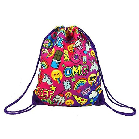 Awesome Sauce Drawstring Sling Bag (Purple Blue) (Awesome Backpacks)
