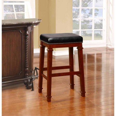 Wondrous Linon Kennedy Backless Bar Stool 30 Inch Seat Height Dark Cherry Short Links Chair Design For Home Short Linksinfo