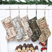 GEX 19'' Tactical Christmas Stocking Military Christmas Stocking Personalized Camouflage Stocking ArmyACU