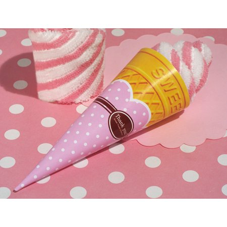 Swirl Treat - Sweet Treats Collection Strawberry swirl Ice cream cone towel favor