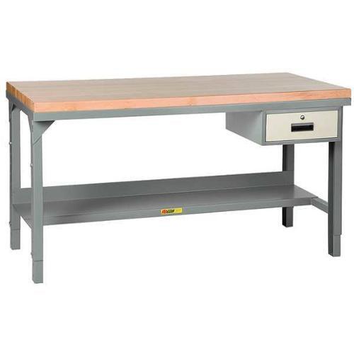 LITTLE GIANT WSJ2-3060-AH-DR Workbench, Drawer, 28-3\/4-42-3\/4Hx60Wx30D