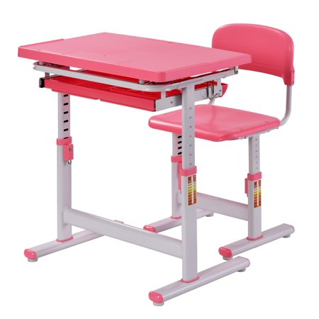 Muscle Rack Ergonomic Adjustable Kids Desk Pink