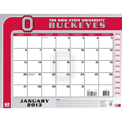 "Turner Licensing 2013 22"" x 17"" Desk Calendar, Ohio State Buckeyes"