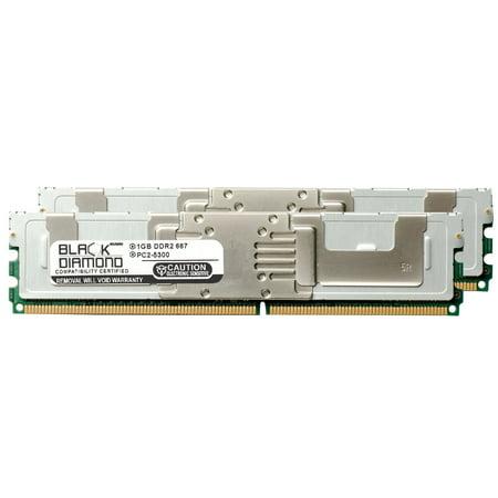 2GB 2X1GB Memory RAM for SuperMicro SuperServer 7000 Series 7045A-3B, 7045A-8, 7045A-8B, 7045A-TB, 7045A-WTB 240pin PC2-5300 667MHz DDR2 FBDIMM Black Diamond Memory Module Upgrade 667mhz Ecc Fb Dimm Memory