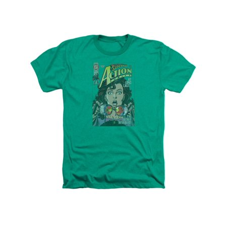 Superman DC Comics Lois Lane Secret Revealved Adult Heather T-Shirt Tee (Lois Lane And Superman Costume)