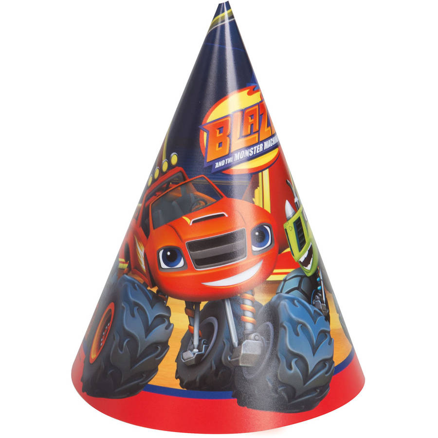 Blaze and the Monster Machines Party Hats, 8-Count
