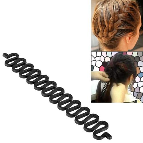 "Zodaca Black Hair Styling Accessory Kit Bun Maker Roller Holder Braid Beauty Tools 3.39"" x 1"" inch"
