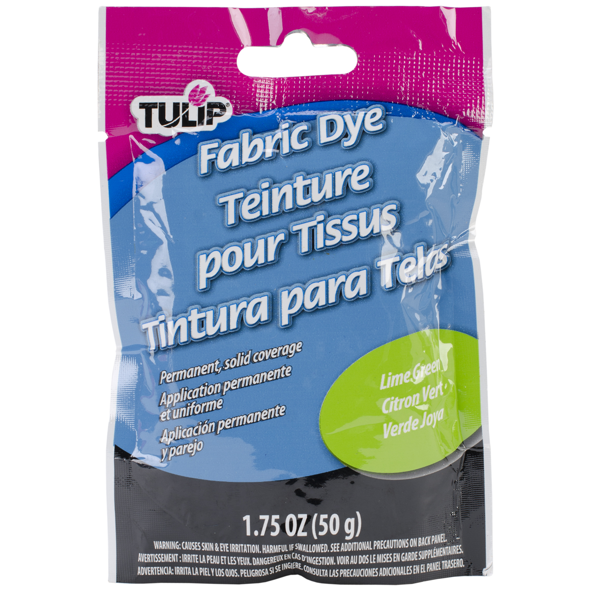 Tulip Permanent Fabric Dye 1.76oz-Hot Black