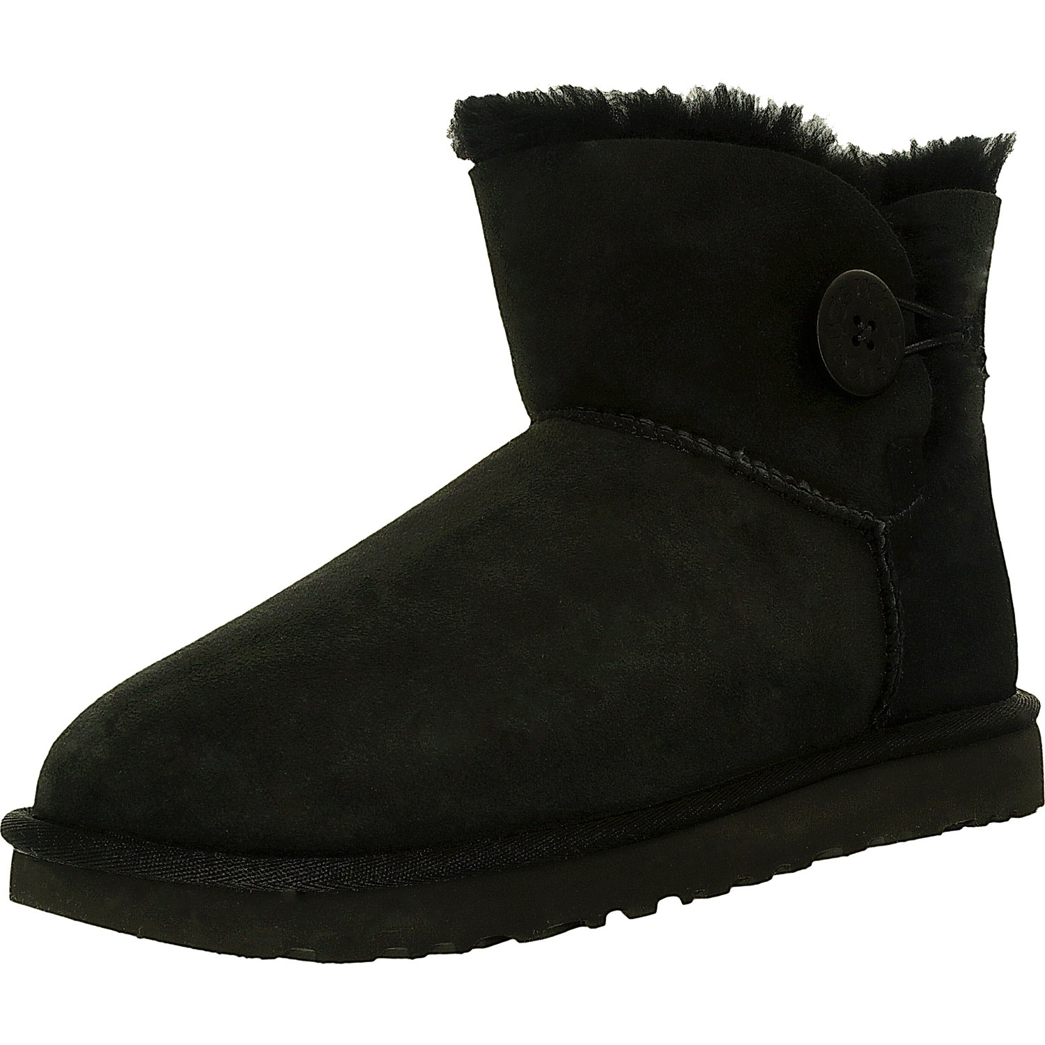 Ugg Women's Mini Bailey Button II Black High-Top Sheepski...