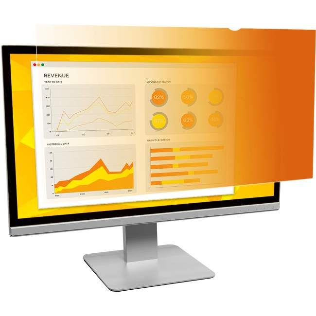 "3M GF238W9B Gold Privacy Filter for 23.8"" Widescreen Monitor"